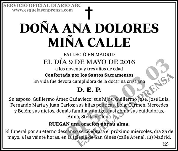 Ana Dolores Miña Calle